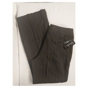 Rafaella Brown Striped Stretch Career Pants Sz 10